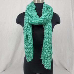 Summer Scarf Wrap Shawl Lightweight Green White OS